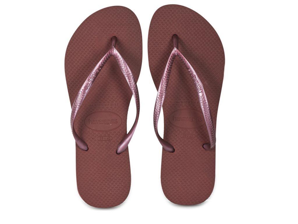 Havaianas Γυναικείες Σαγιονάρες, Flip Flops, σε απαλό μπορντό χρώμα 37/38