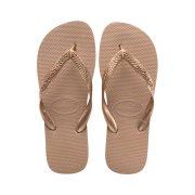 Havaianas Γυναικείες Σαγιονάρες, Flip Flops, σε ροζ χρυσό χρώμα, Top Tiras 43/44