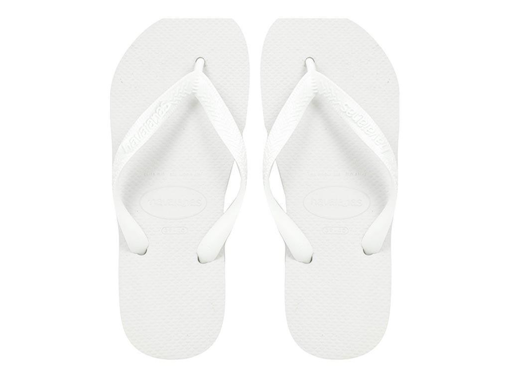 Havaianas Ανδρικές Σαγιονάρες, σε λευκό χρώμα, Top Unisex 43/44