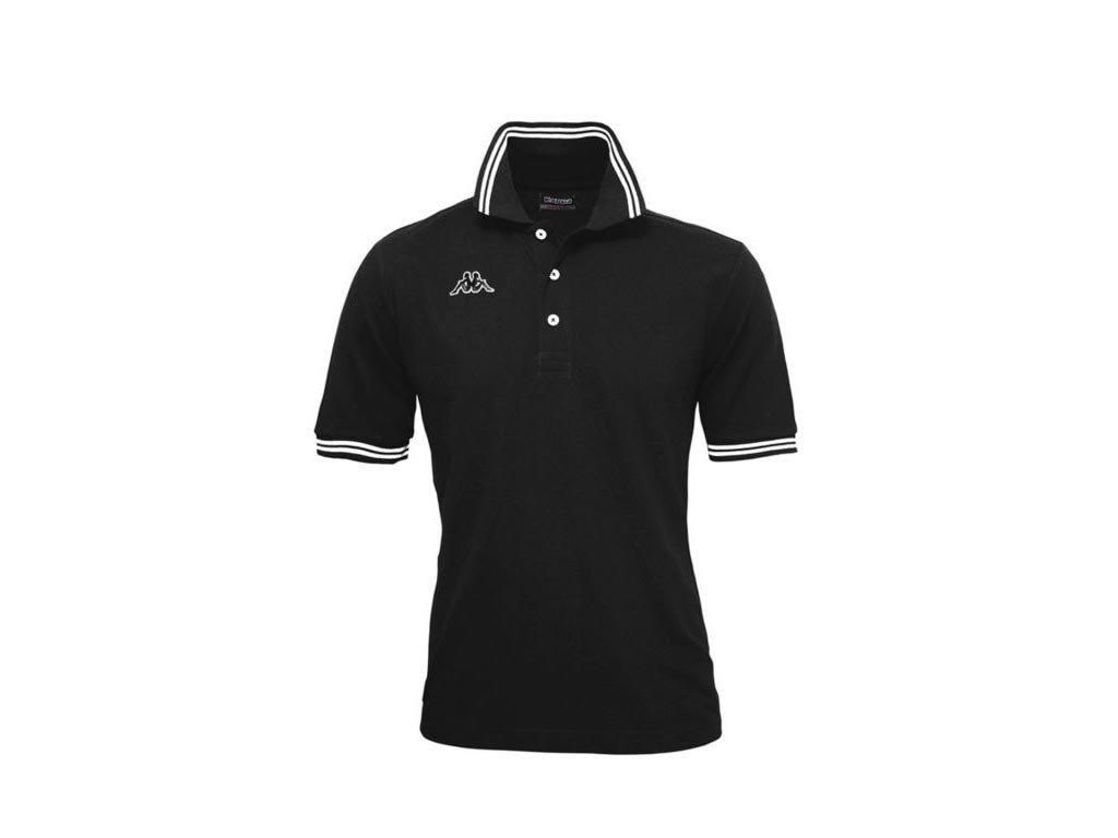 Kappa Ανδρική Μπλούζα Polo σε μαύρο χρώμα με γιακά, Maltax 5 Mss Medium
