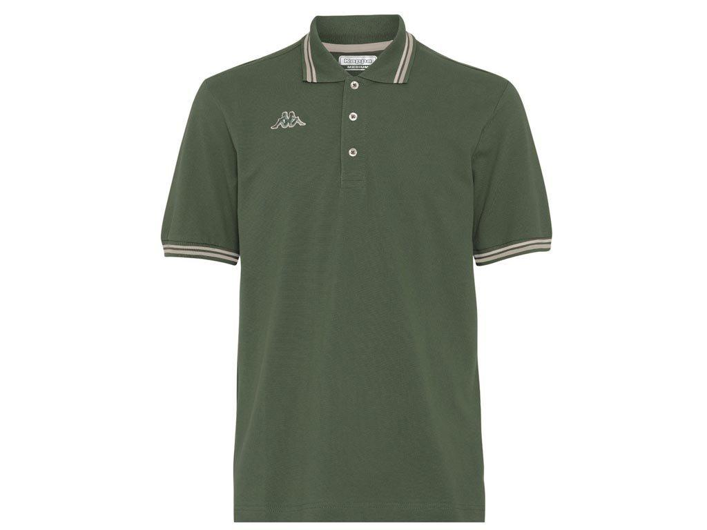 Kappa Ανδρική Μπλούζα Polo σε Λαδί χρώμα με γιακά, Maltax 5 Mss Medium