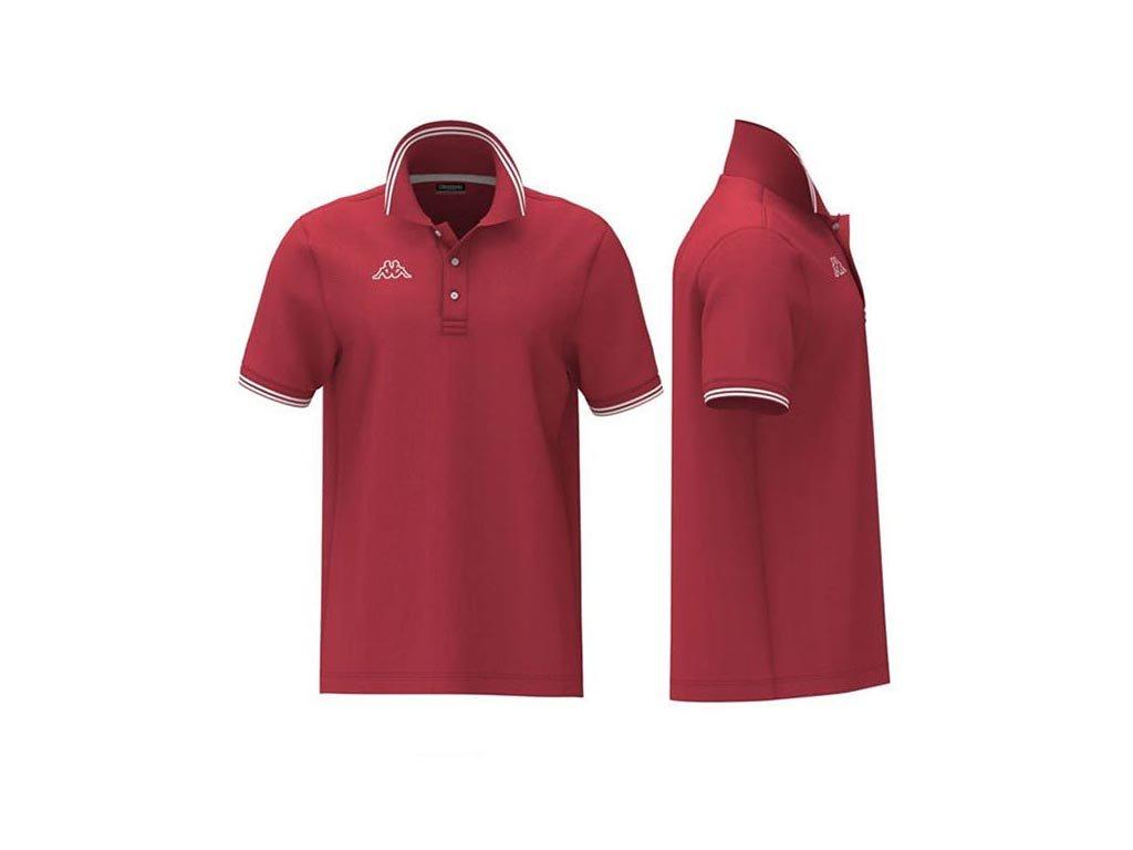 Kappa Ανδρική Μπλούζα Polo σε Κόκκινο χρώμα με γιακά, Maltax 5 Mss Medium