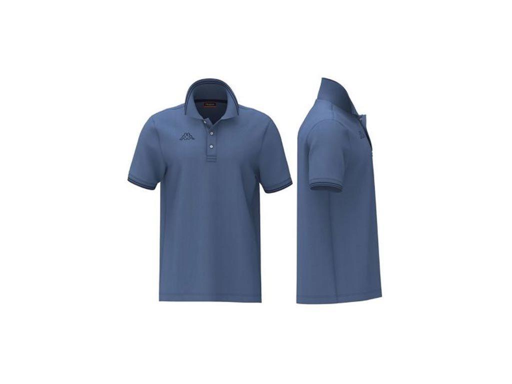 Kappa Ανδρική Μπλούζα Polo σε Μπλε χρώμα με γιακά, Maltax 5 Mss XXLarge
