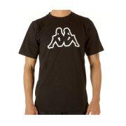 Kappa Ανδρικό T-Shirt σε Μαύρο Χρώμα, Cromen Logo XLarge
