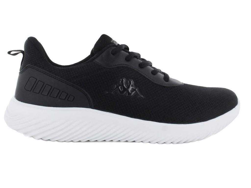 Kappa Ανδρικό Αθλητικό Παπούτσι Πάνινο με ελαφρά EVA σόλα, σε μαύρο χρώμα, Logo Emre 46