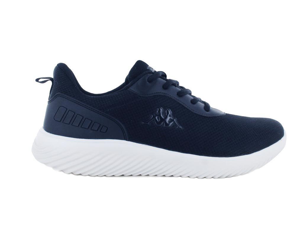 Kappa Ανδρικό Αθλητικό Παπούτσι Πάνινο με ελαφρά EVA σόλα, σε μπλε σκούρο χρώμα, Logo Emre 44
