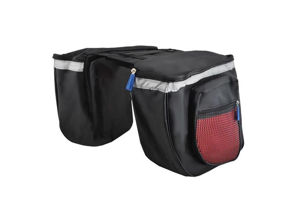 Διπλή τσάντα αποθήκευσης για τον Σκελετό Ποδηλάτου με 4 θέσεις, 27x33x10 cm