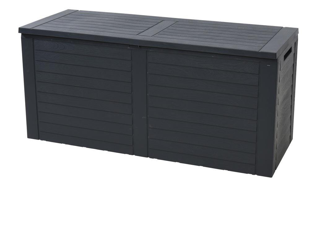 Μπαούλο Αποθήκευσης Κήπου σε ανθρακί χρώμα 240L, 115x45x53 cm, Garden box