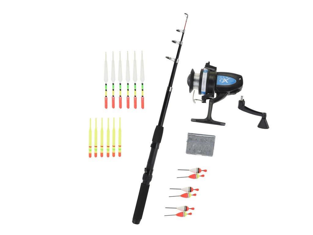 Σετ Ψαρέματος Αλιείας 120 τεμαχίων με Τηλεσκοπικό καλάμι, Καρούλι ψαρέματος, Δολώματα και Αγκίστρια