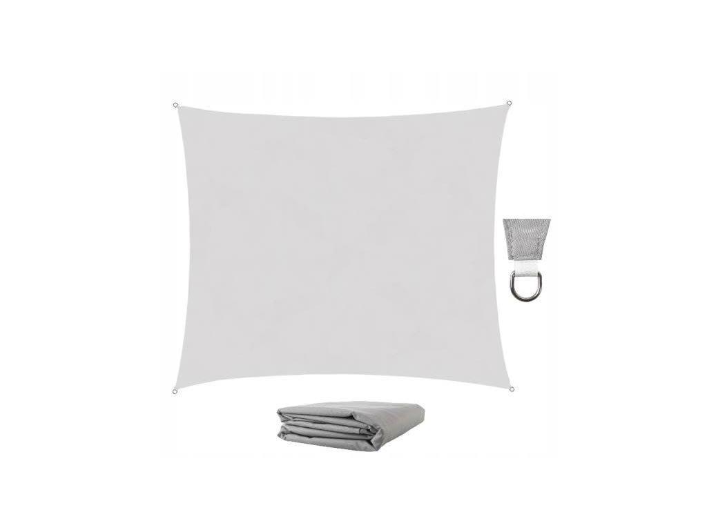 Αντηλιακή Τετράγωνη Τέντα Σκίαστρο από πολυεστέρα σε γκρι χρώμα, 3x2 m, Square shade cloth