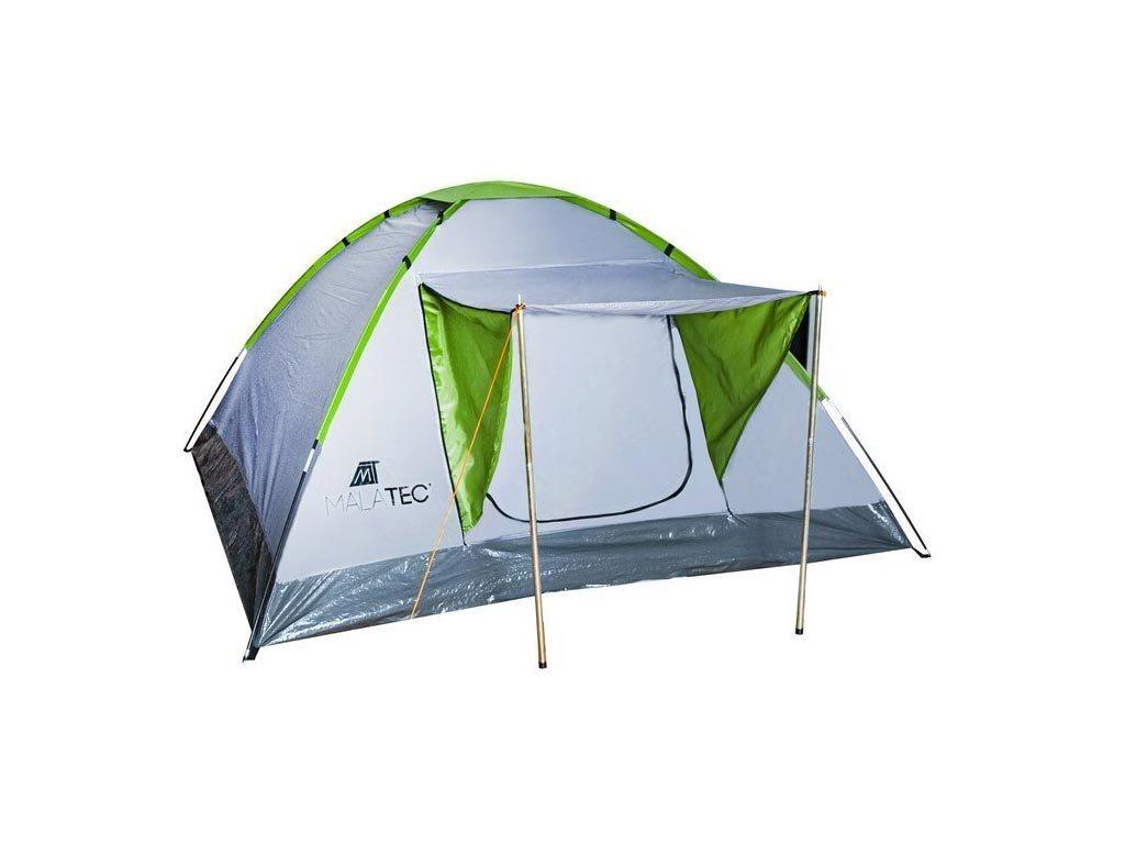 Σκηνή Camping 2-4 ατόμων με extra σκιαστρο πόρτας, σε Ασημί-Πράσινο χρώμα, Montana, 200x200x110cm