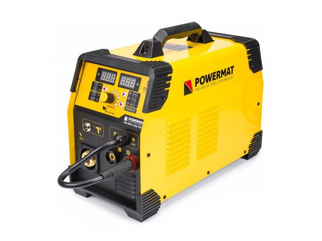 Ημιαυτόματη Ηλεκτροκόλληση Inverter 220A 230V MIG, MAG, TIG, MMA IGBT, Powermat PM-IMGS-220L