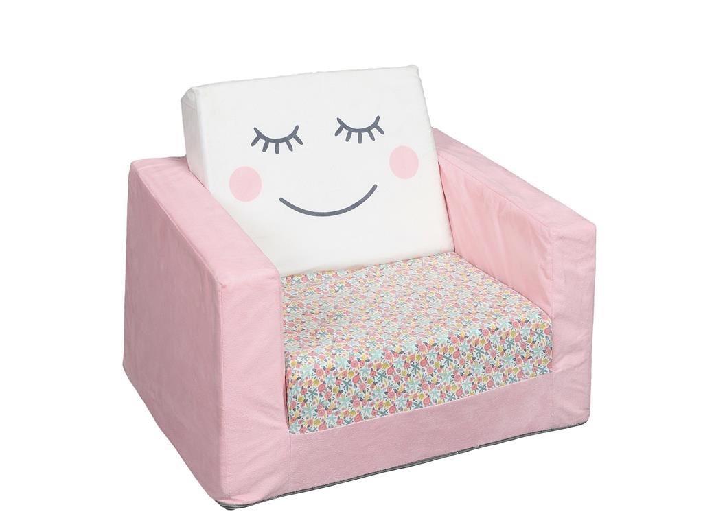 Aria Trade Παιδική Πολυθρόνα Υφασμάτινη Ροζ