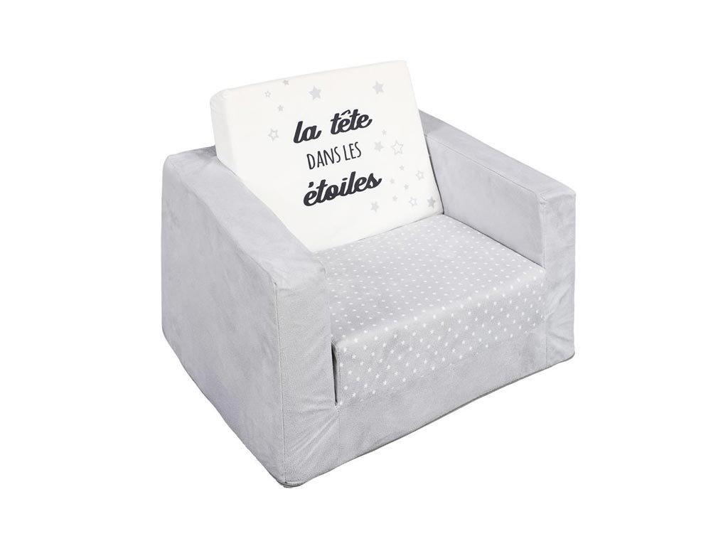 Aria Trade Παιδική Πολυθρόνα Υφασμάτινη Γκρι Λευκό 38x40x49cm