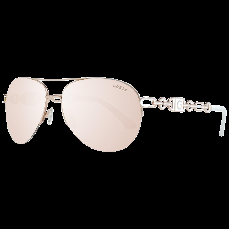 Guess Γυναικεία Γυαλιά Ηλίου σε  Ροζ Χρυσό χρώμα με  θήκη, GF0257 28G 59