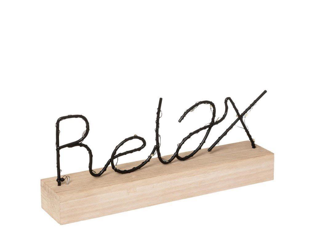 Διακοσμητικό Επιτραπέζιο Φωτιστικό LED σε σχέδιο  Relax, διαστάσεων 29x5.5x13cm