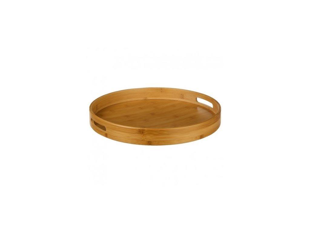 Ξύλινος Στρογγυλός Δίσκος Σερβιρίσματος Μπαμπού (Bamboo), 40x5 cm