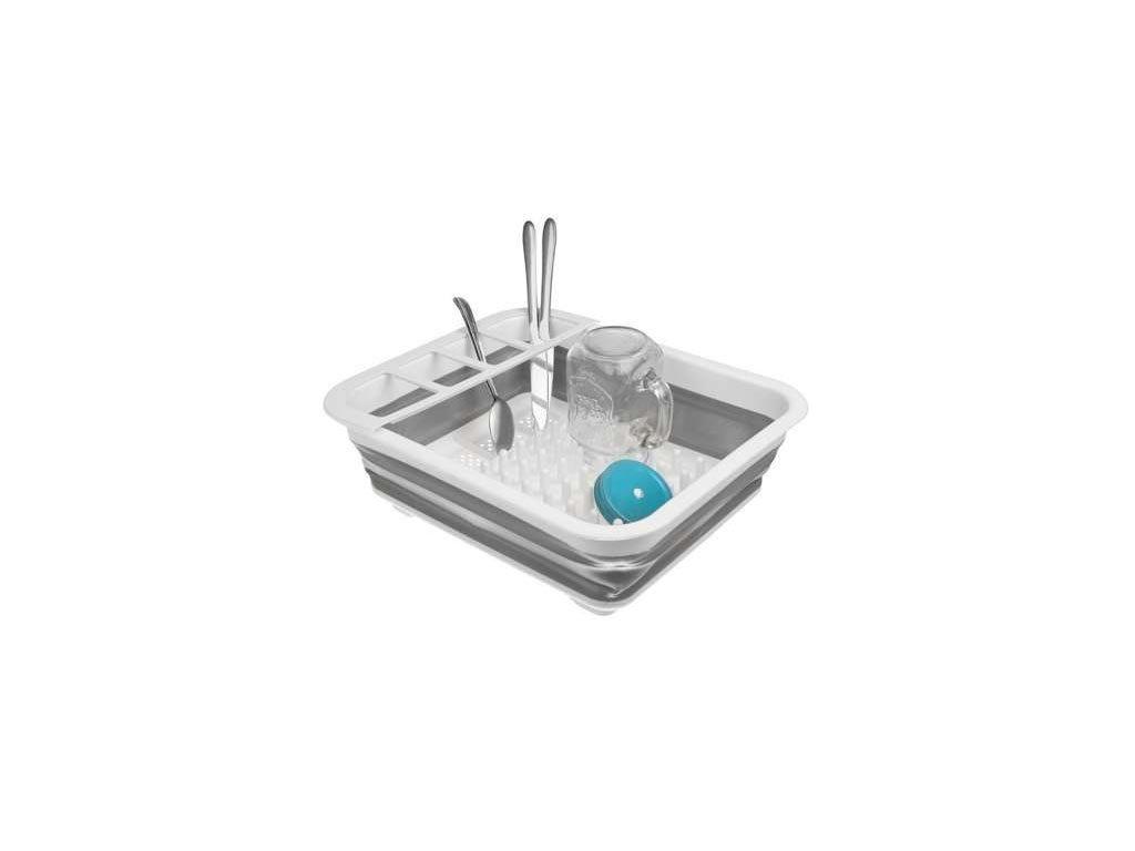 Πτυσσόμενη Πιατοθήκη Στεγνωτήριο Πιάτων,Ποτηριών και Μαχαιροπίρουνων από σιλικόνη, 36x31x11