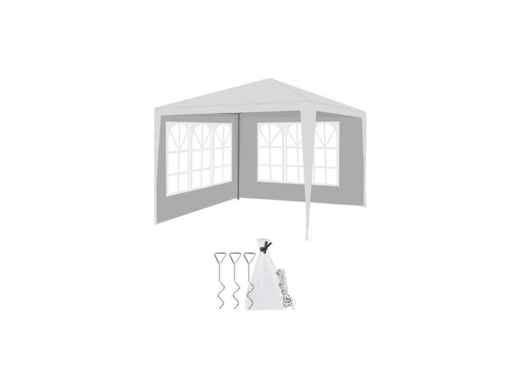 Gazebo Κιόσκι Τέντα για Εκδηλώσεις με Μεταλλικό Σκελετό σε λευκό χρώμα, διαστάσεων 300x300x250 cm