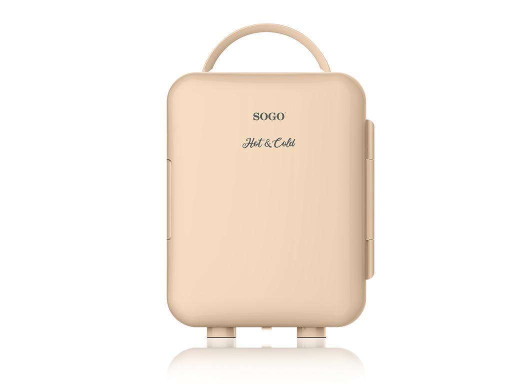 SOGO Mini Φορητό Ψυγείο 4L Μπεζ με Επιλογή Ζεστού ή Κρύου, Κατάλληλο για το Αυτοκίνητο, NEV-SS-465