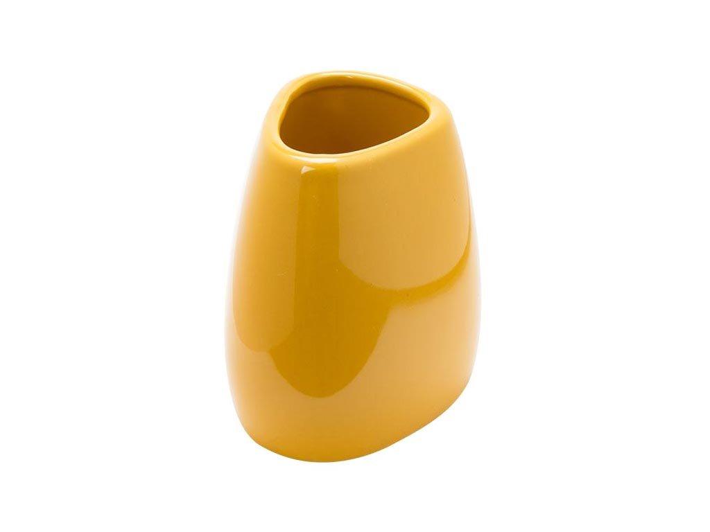 Aria Trade Ποτηροθήκη Επιτραπέζια Κεραμική Κίτρινη 500052