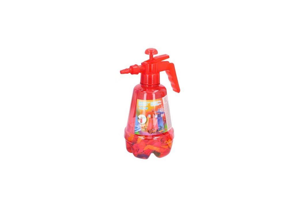 Eddy Toys Σετ Τρόμπα και 100 Πολύχρωμα Μπαλόνια για Party, Balloon pumper Κόκκινο