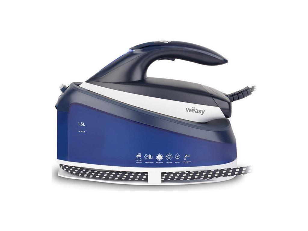 Σύστημα Σιδερώματος με Ισχύ 2200W 1.5L  χωρητικότητα και Κεραμική Πλάκα σε Μπλε Χρώμα, Weasy LIN220