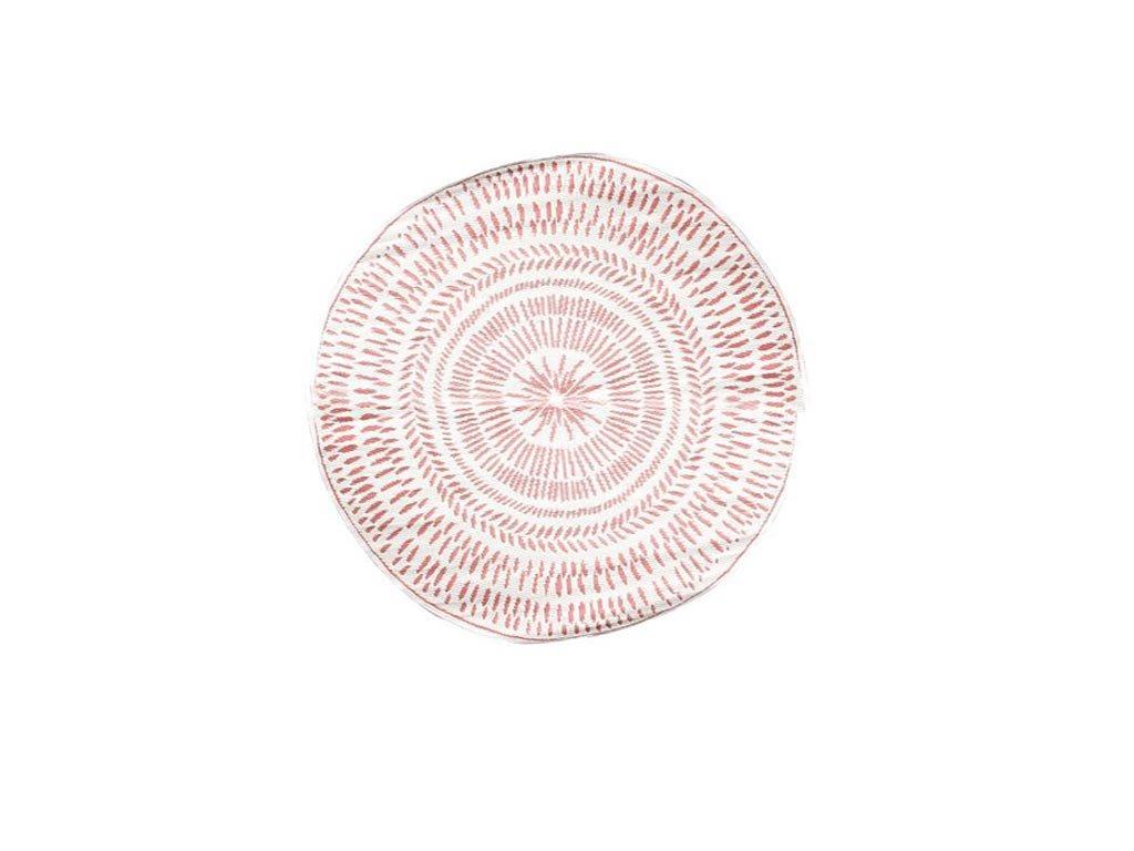 Στρογγυλό Χαλί Σαλονιού με διάμετρο 150cm από σε κόκκινες αποχρώσεις, σε 2 σχέδια Μπεζ