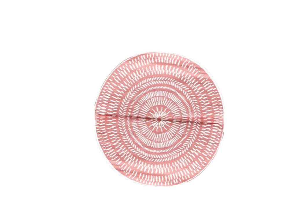 Στρογγυλό Χαλί Σαλονιού με διάμετρο 150cm από σε κόκκινες αποχρώσεις, σε 2 σχέδια Κεραμιδί