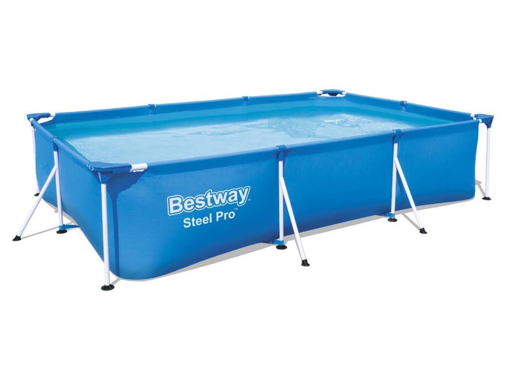 Bestway Πισίνα παραλληλόγραμμη με μεταλλικό σκελετό, μεγάλων διαστάσεων, 300x201x66 cm