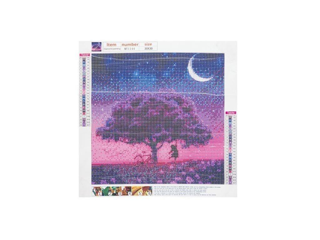 Ψηφιδωτό Μωσαικό με ψηφίδες τύπου διαμάντια και σχέδιο Δέντρο, 30x40 cm, Mosaic Art Kit