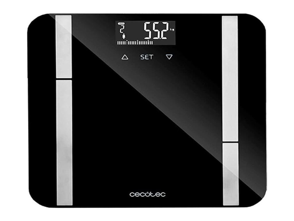 Cecotec Ψηφιακή Ζυγαριά 10 Μετρήσεων με Λιπομετρητή Μαύρη 9450 Full Healthy 10 Μνήμες 180kg