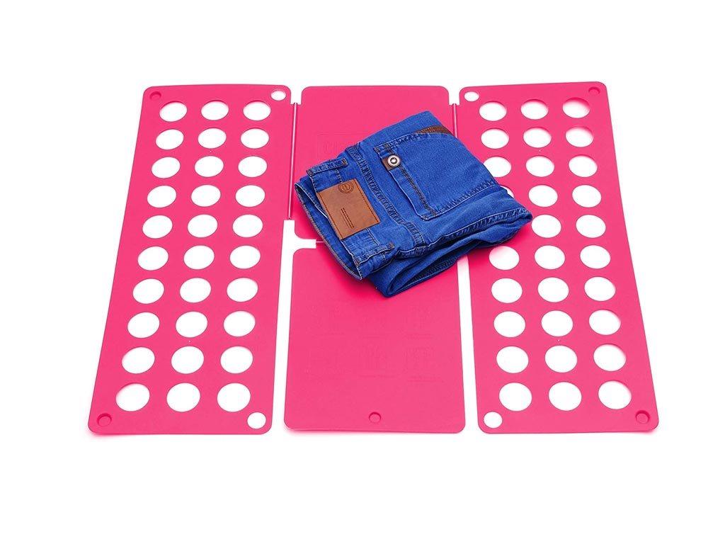 Σύστημα διπλώματος ρούχων XXL , αναδιπλούμενη επιφάνεια, 60x70 cm, Folding Clothes Ροζ