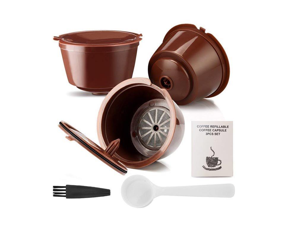Σετ επαναχρησιμοποιούμενες κάψουλες καφέ συμβατές με μηχανές Dolce gusto 3 τεμάχια χωρητικότητας 9gr