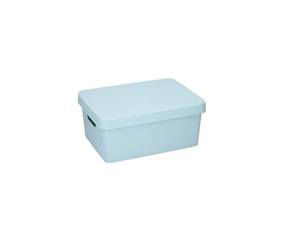 Κουτί Αποθήκευσης Πλαστικό χωρητικότητας 11Lt με λαβές και καπάκι, 13.8x27.7x37 cm Γαλάζιο