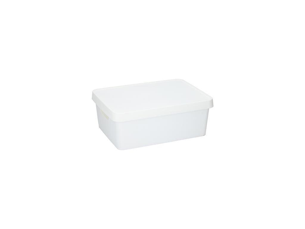 Κουτί Αποθήκευσης Πλαστικό χωρητικότητας 11Lt με καπάκι, 13.8x27.7x37 cm Λευκό