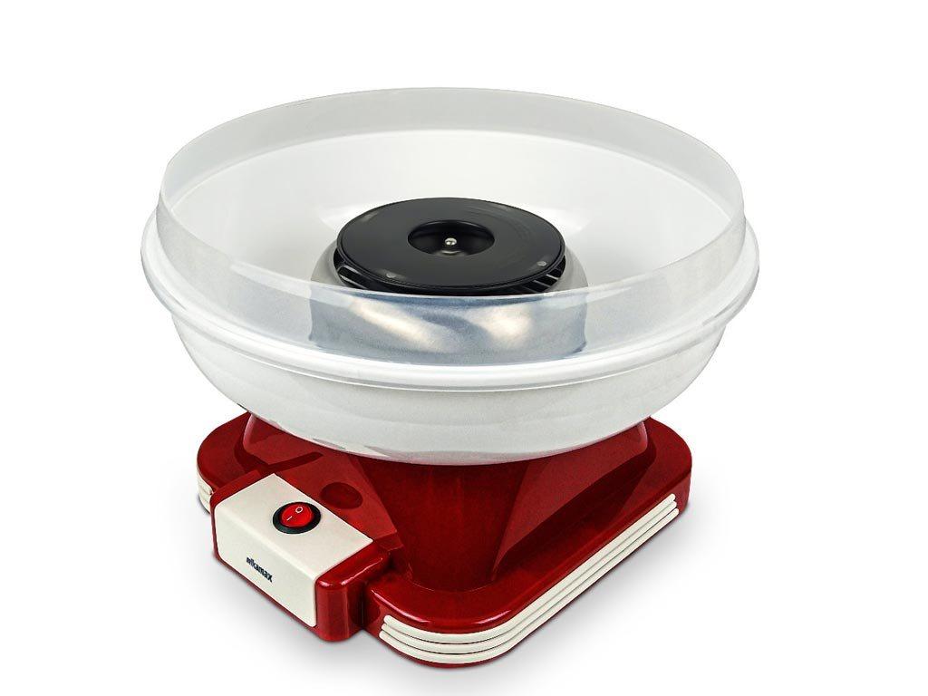 Συσκευή για Μαλλί της Γριάς 31x25 με κουτάλι μέτρησης σε Κόκκινο χρώμα, Retro Cotton Candy Machine