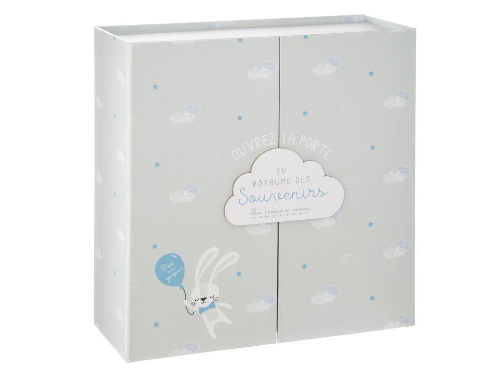 Aria Trade Αναμνηστικό Birth Box Γκρι με 9 Θήκες