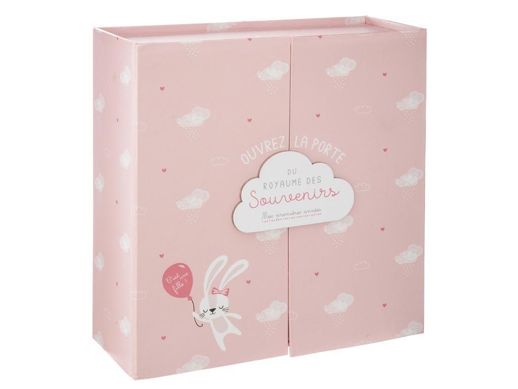Aria Trade Αναμνηστικό Birth Box Ροζ με 9 Θήκες