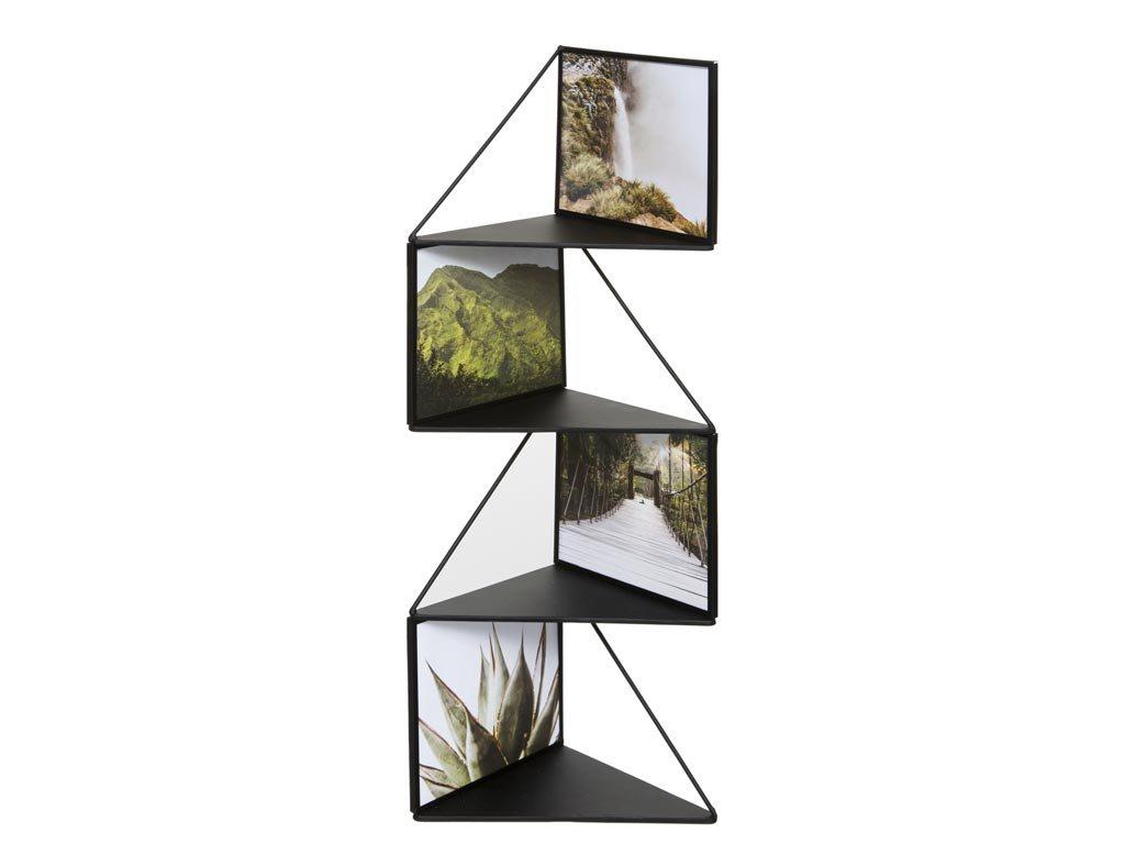 Μεταλλική Γωνιακή Πολυκορνίζα Κορνίζα Τοίχου για 4 φωτογραφίες, 17x17x68 cm, Photo frame