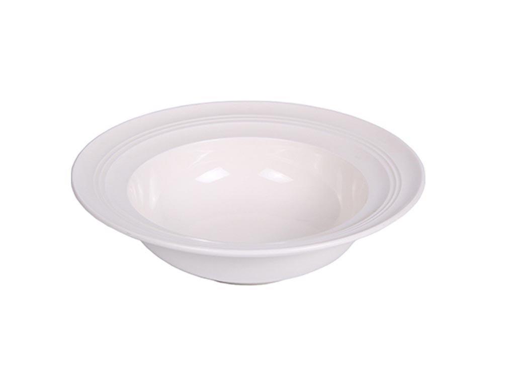 Luigi Ferrero Κaya Πιάτο Βαθύ από Πορσελάνη διαμέτρου 23.3 cm σε λευκό χρώμα, Pasta Plate