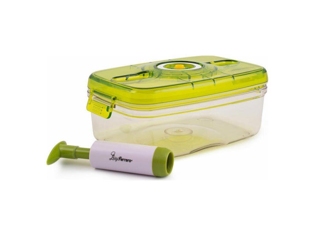 Luigi Fererro Πλαστικό Δοχείο αποθήκευσης τροφίμων με αντλία χειρός, χωρητικότητας 2Ltr, VC-056