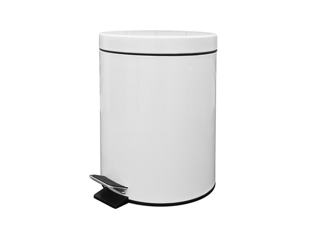 Muhler Καλαθάκι Μπάνιου 5lt Λευκό MR-530W Μεταλλικό