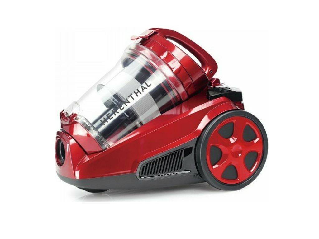 Herenthal Ηλεκτρική Σκούπα 3L 850W με κυκλωνικό σύστημα, σε κόκκινο χρώμα, HT-CSCM1400.60.20