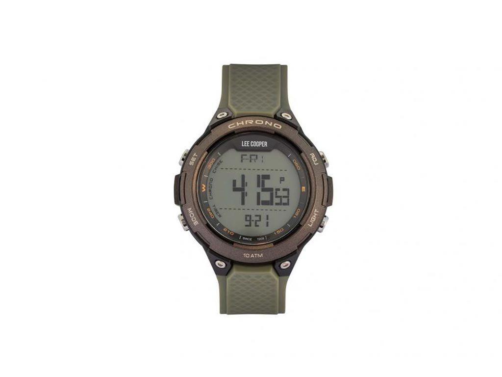 Lee Cooper Ανδρικό Ρολόι χειρός 47mm με λουράκι σε χακί χρώμα, LC05606.725