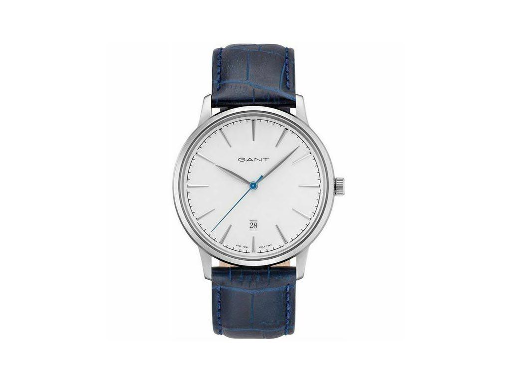 Gant Ανδρικό Ρολόι χειρός 42mm με δερμάτινο λουράκι σε μπλε χρώμα, GT020001