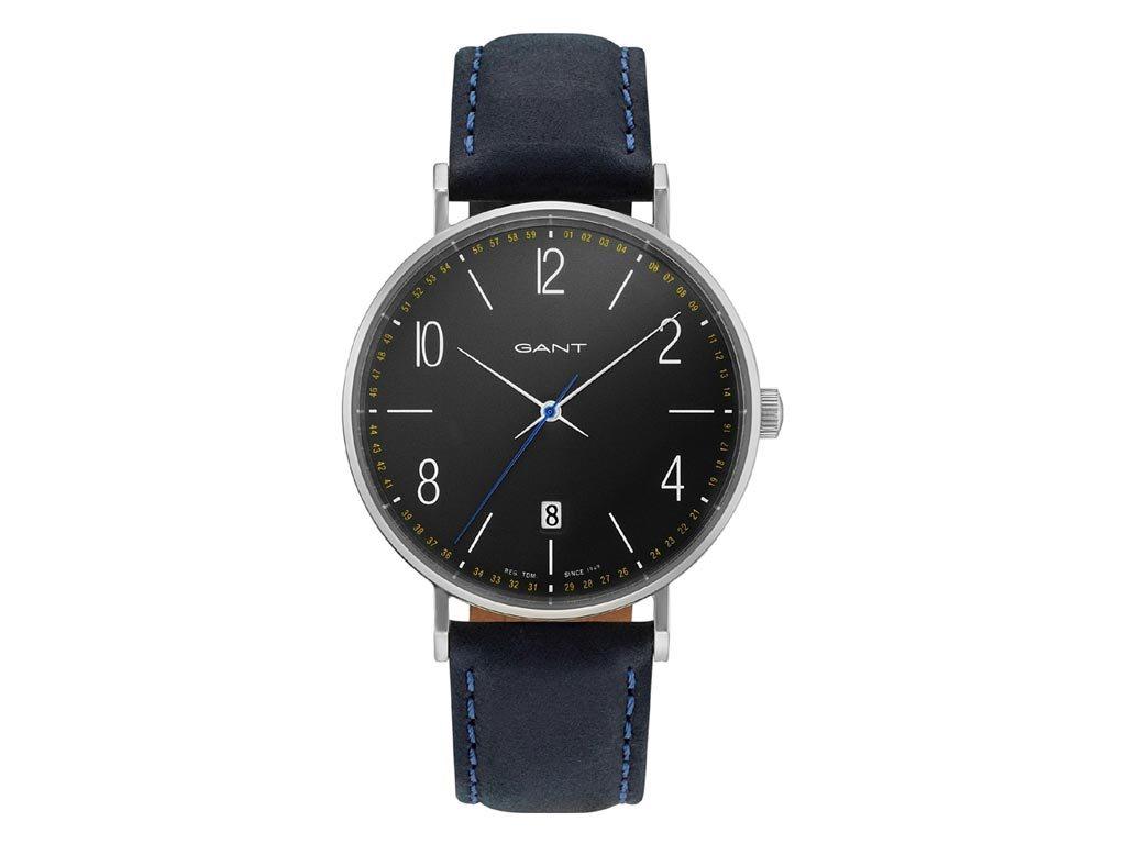 Gant Detroit Ανδρικό Ρολόι χειρός 41mm με δερμάτινο λουράκι σε μαύρο χρώμα, GT034003
