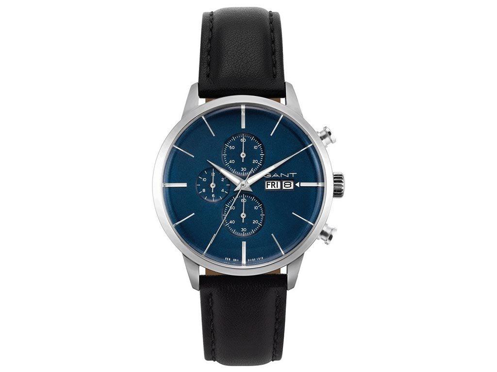Gant Asheville Ανδρικό Ρολόι χειρός 41mm με δερμάτινο λουράκι σε μαύρο χρώμα, GT063001