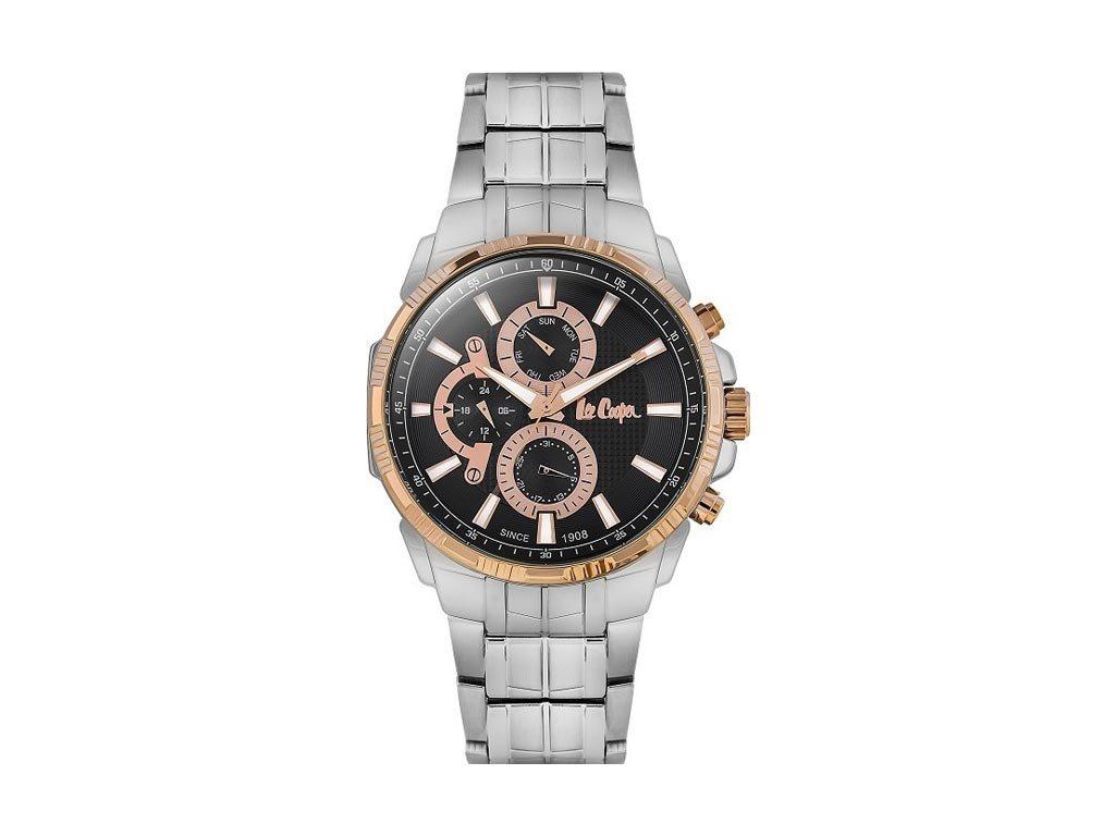 Lee Cooper Ανδρικό Ρολόι χειρός 47mm με μπρασελέ και μαύρο καντράν,  LC06511.550