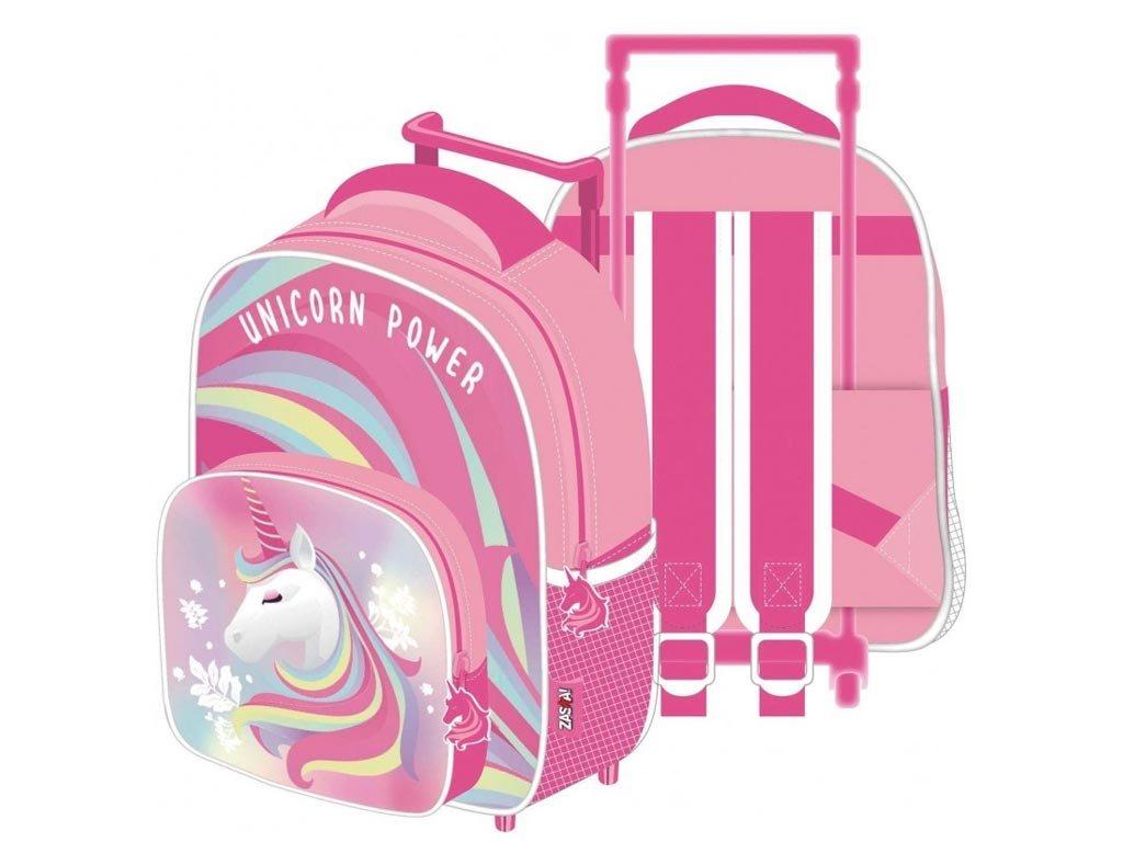 Σχολική Τσάντα Τρόλεϊ Πλάτης Νηπιαγωγείου με θέμα Μονόκερος, 24x36x12 cm, Unicorn Trolley Bag